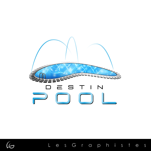 Logo Design by Les-Graphistes - Entry No. 9 in the Logo Design Contest Fun Logo Design for Destin Pools.