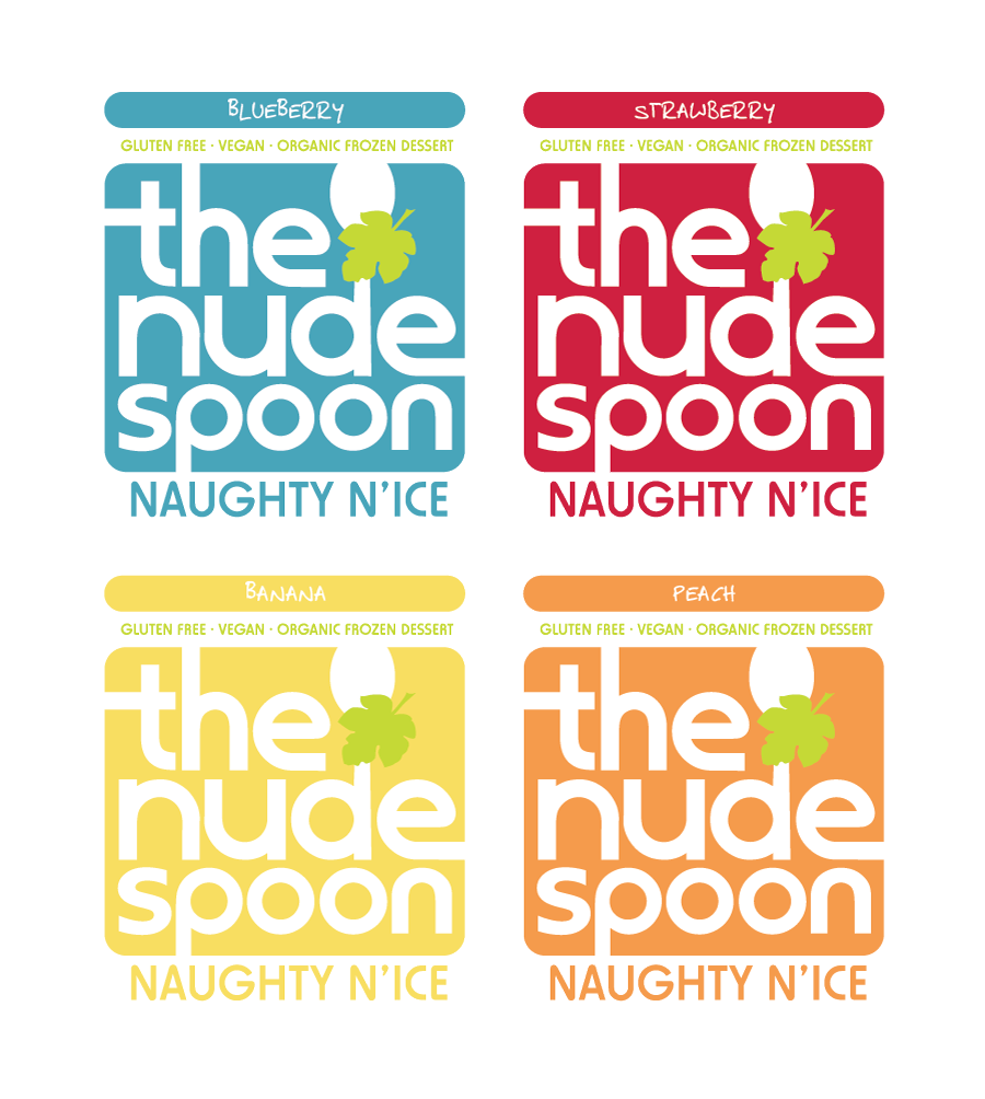 Logo Design by Christina Evans - Entry No. 30 in the Logo Design Contest Captivating Logo Design for The Nude Spoon.