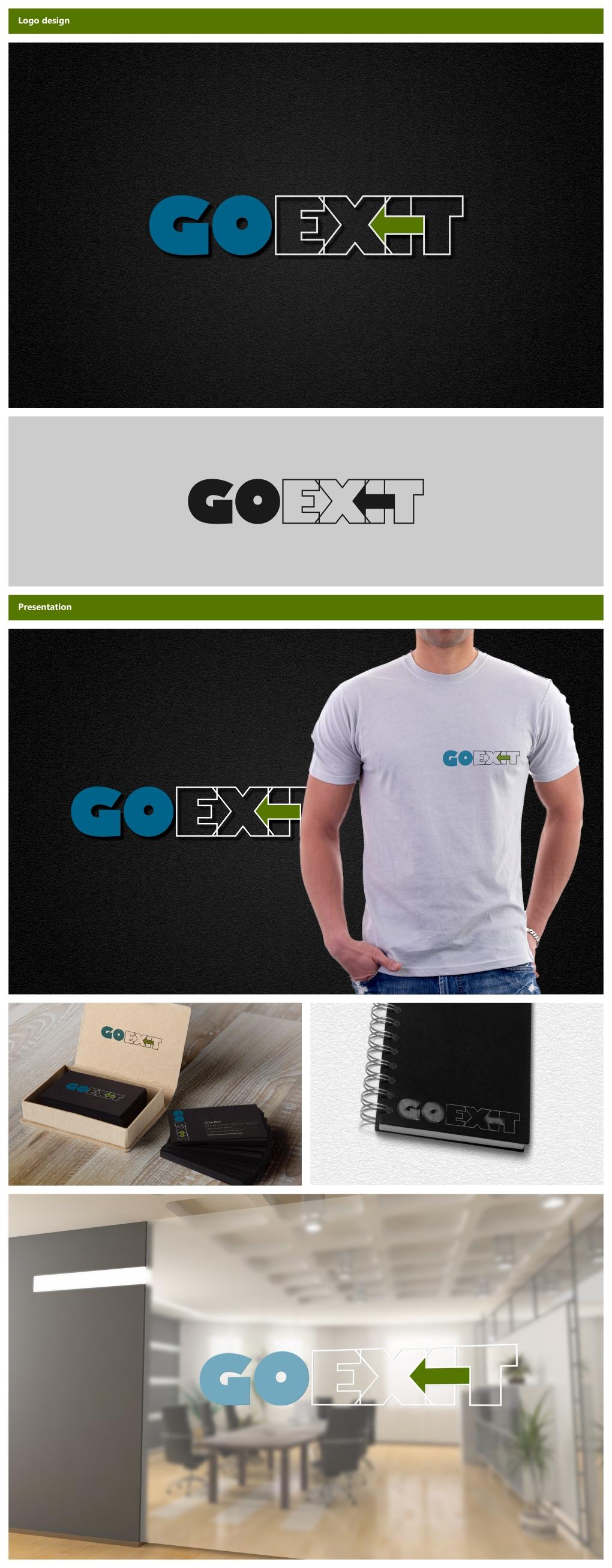 Logo Design by Rares.Andrei - Entry No. 14 in the Logo Design Contest GoExit Logo Design.