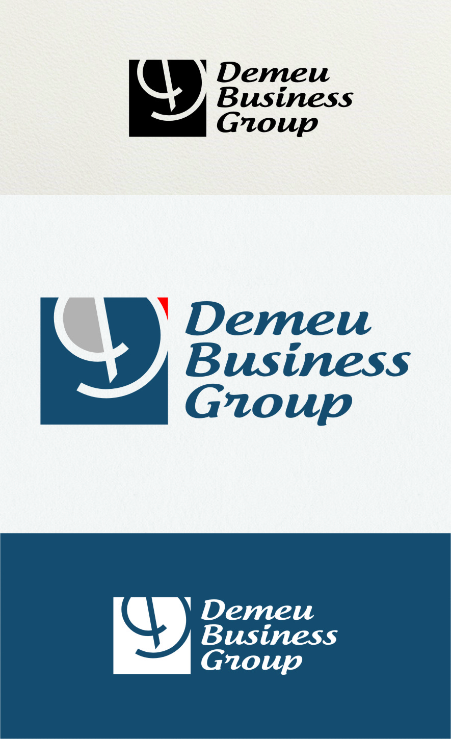 Logo Design by RasYa Muhammad Athaya - Entry No. 170 in the Logo Design Contest Captivating Logo Design for DEMEU Business Group.