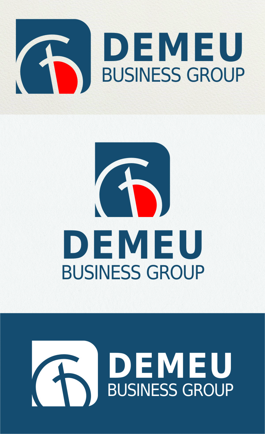 Logo Design by RasYa Muhammad Athaya - Entry No. 171 in the Logo Design Contest Captivating Logo Design for DEMEU Business Group.