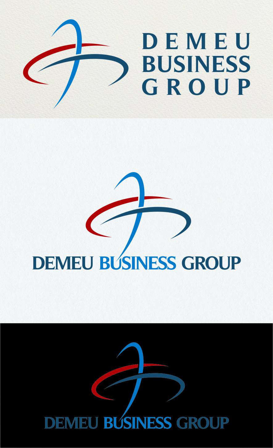 Logo Design by RasYa Muhammad Athaya - Entry No. 172 in the Logo Design Contest Captivating Logo Design for DEMEU Business Group.