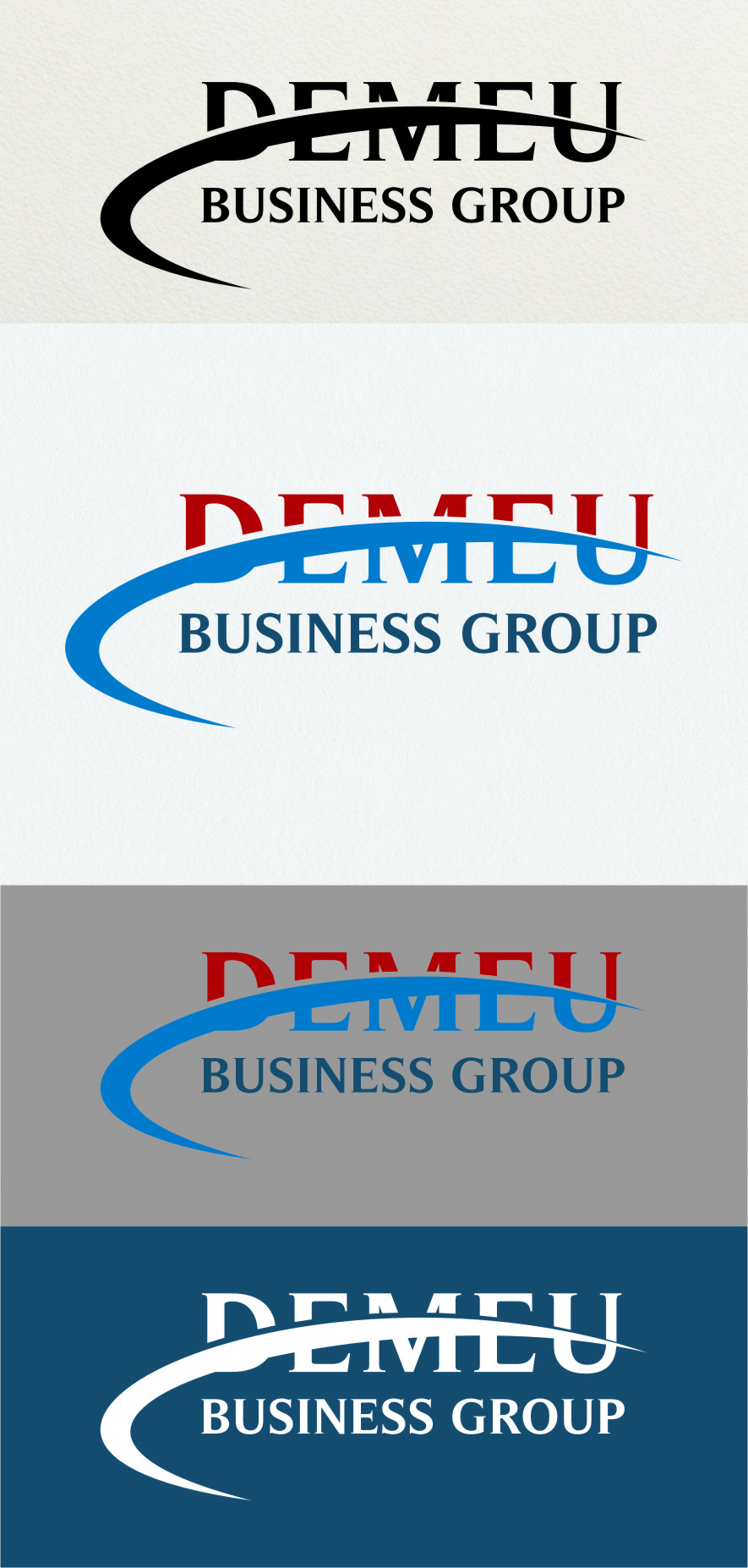 Logo Design by RasYa Muhammad Athaya - Entry No. 173 in the Logo Design Contest Captivating Logo Design for DEMEU Business Group.