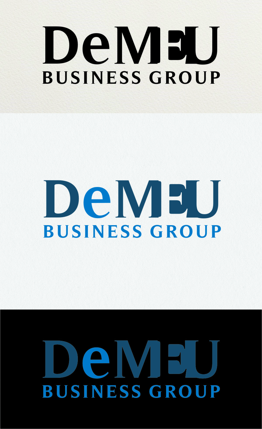 Logo Design by RasYa Muhammad Athaya - Entry No. 176 in the Logo Design Contest Captivating Logo Design for DEMEU Business Group.