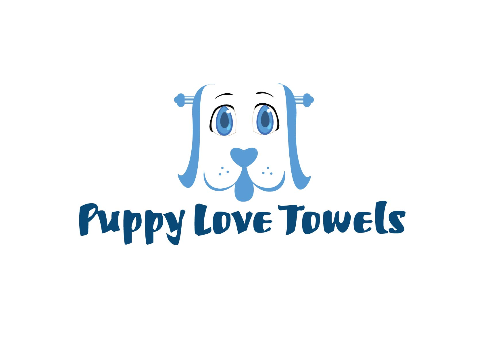 Logo Design by Yash Sindhav - Entry No. 13 in the Logo Design Contest Artistic Logo Design for Puppy Love Towels.