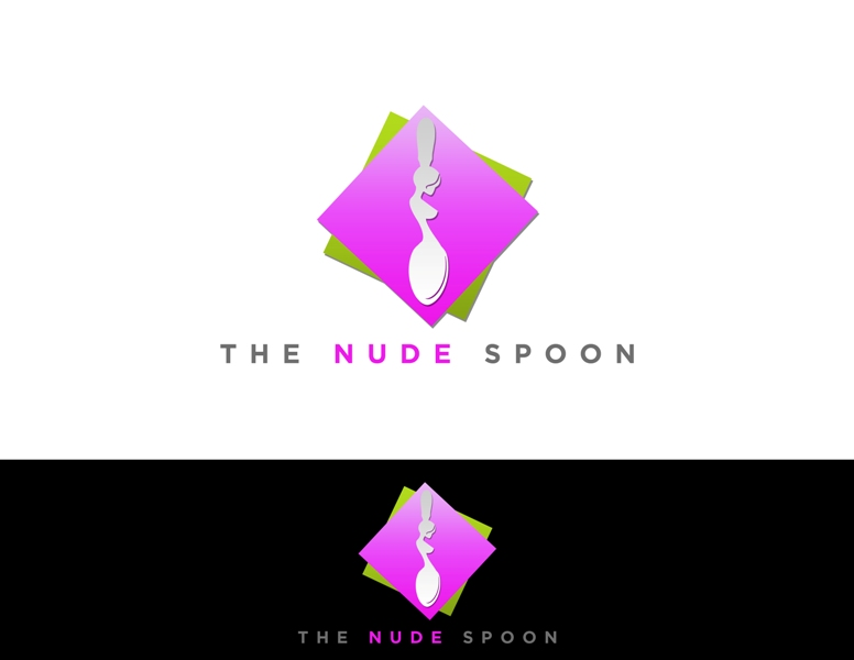 Logo Design by Juan_Kata - Entry No. 42 in the Logo Design Contest Captivating Logo Design for The Nude Spoon.