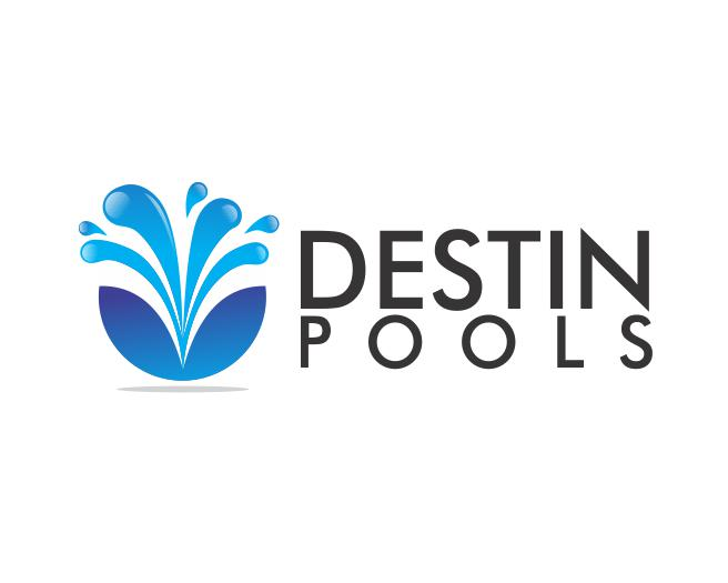 Logo Design by ronny - Entry No. 23 in the Logo Design Contest Fun Logo Design for Destin Pools.