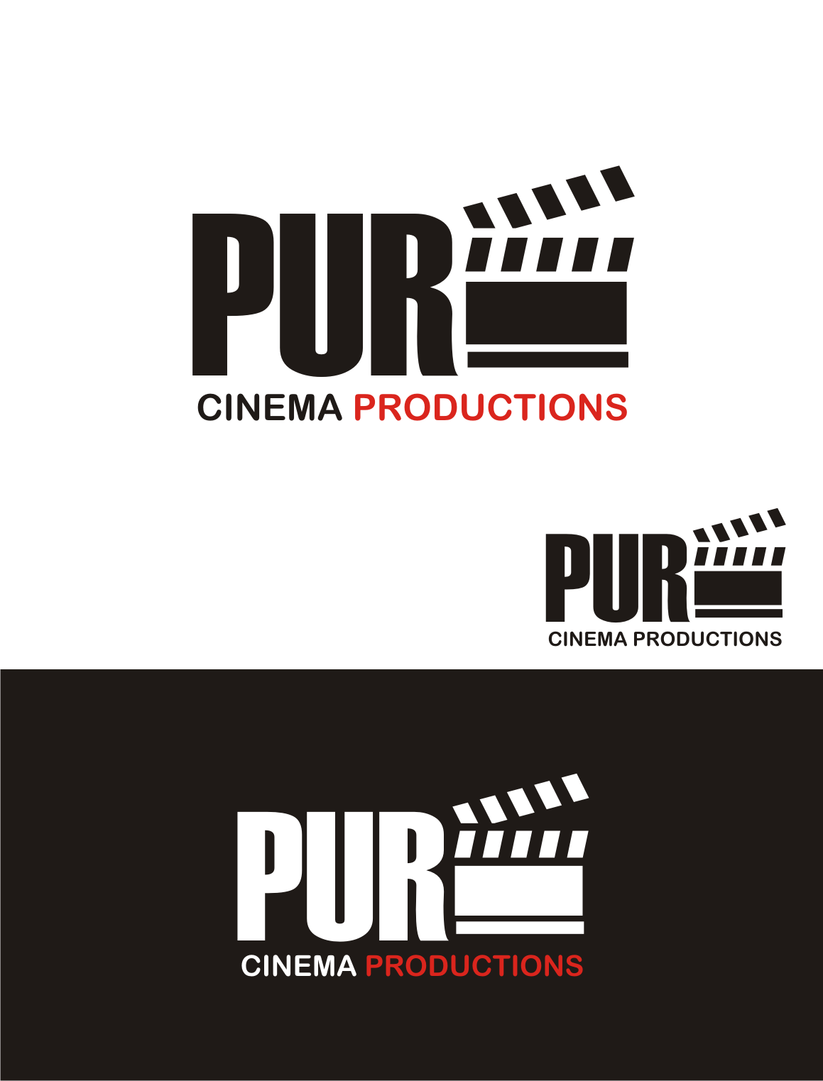 Logo Design by Nthus Nthis - Entry No. 12 in the Logo Design Contest Imaginative Logo Design for Pure Cinema.