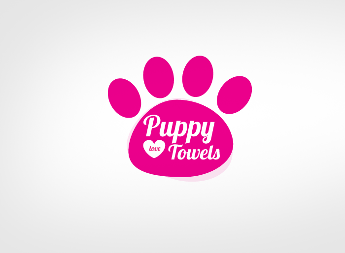 Logo Design by Jan Chua - Entry No. 17 in the Logo Design Contest Artistic Logo Design for Puppy Love Towels.