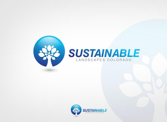 Logo Design by Jan Chua - Entry No. 43 in the Logo Design Contest Imaginative Logo Design for Sustainable Landscapes - Colorado.