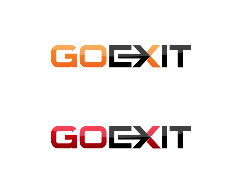 Logo Design by Private User - Entry No. 21 in the Logo Design Contest GoExit Logo Design.
