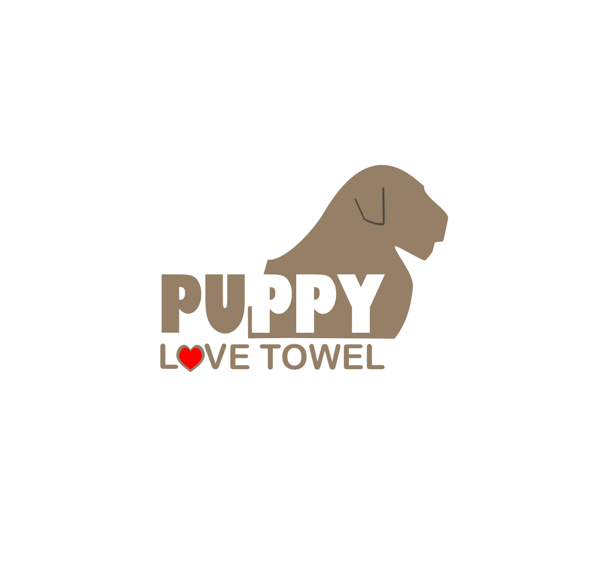 Logo Design by Nthus Nthis - Entry No. 25 in the Logo Design Contest Artistic Logo Design for Puppy Love Towels.