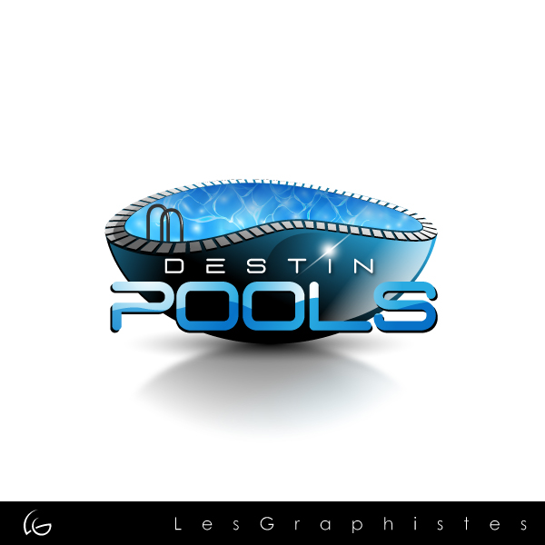 Logo Design by Les-Graphistes - Entry No. 29 in the Logo Design Contest Fun Logo Design for Destin Pools.