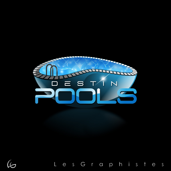 Logo Design by Les-Graphistes - Entry No. 30 in the Logo Design Contest Fun Logo Design for Destin Pools.