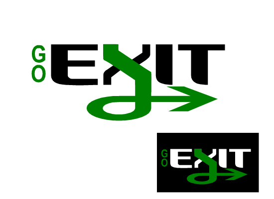 Logo Design by Sherrajoy Gonzales - Entry No. 24 in the Logo Design Contest GoExit Logo Design.
