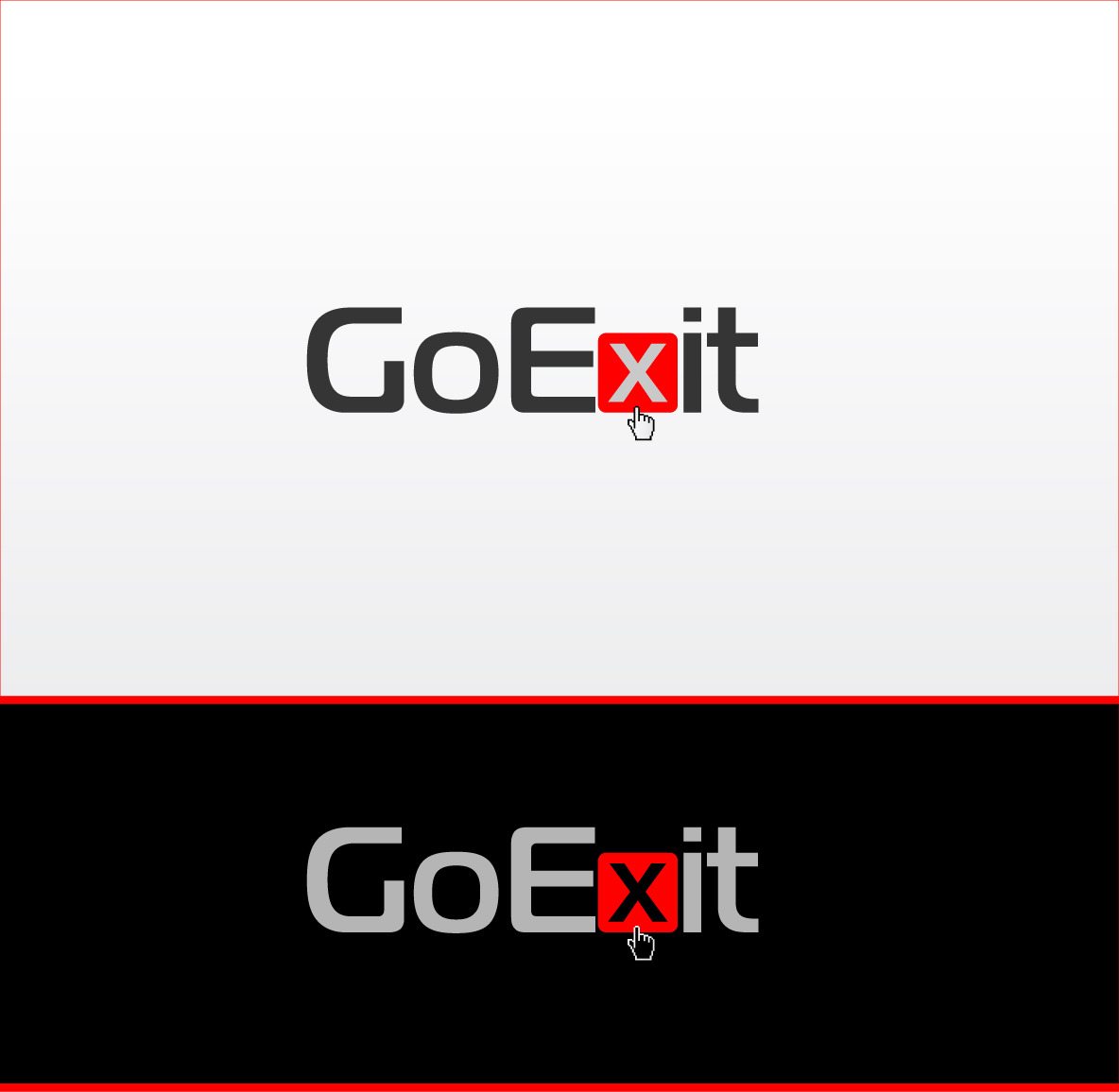 Logo Design by zoiDesign - Entry No. 26 in the Logo Design Contest GoExit Logo Design.