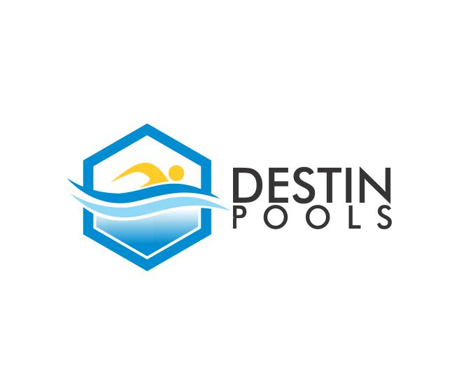 Logo Design by ronny - Entry No. 39 in the Logo Design Contest Fun Logo Design for Destin Pools.