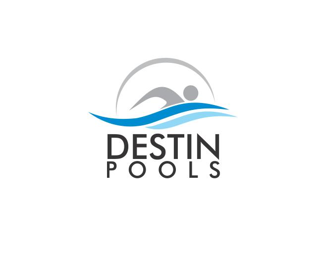 Logo Design by ronny - Entry No. 41 in the Logo Design Contest Fun Logo Design for Destin Pools.