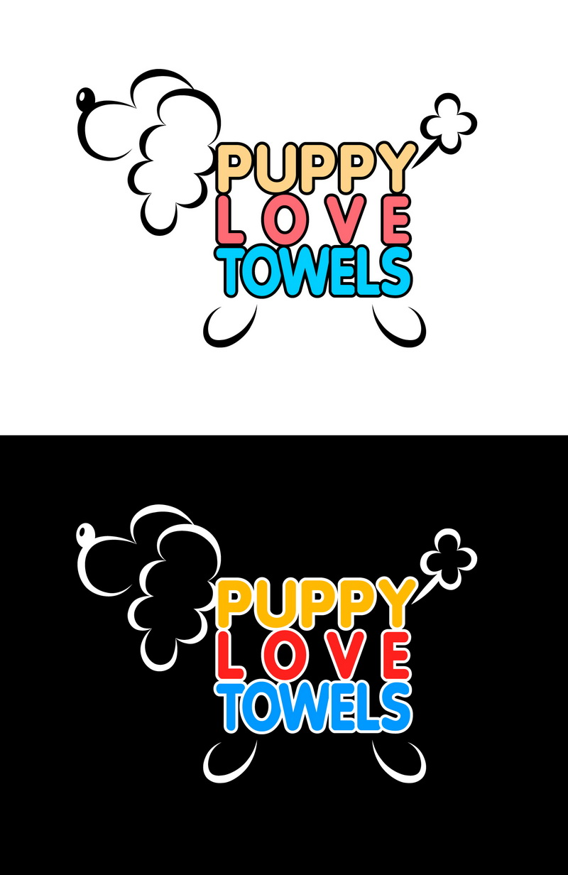Logo Design by t-sign703 - Entry No. 31 in the Logo Design Contest Artistic Logo Design for Puppy Love Towels.