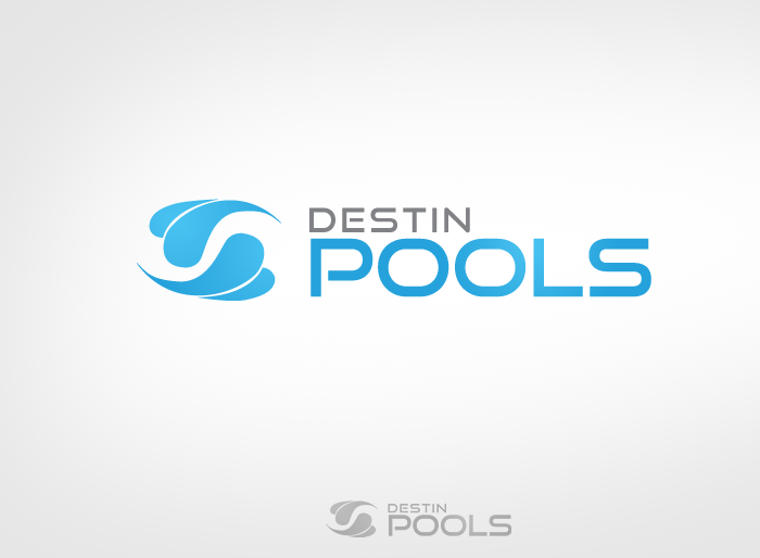 Logo Design by Jan Chua - Entry No. 51 in the Logo Design Contest Fun Logo Design for Destin Pools.