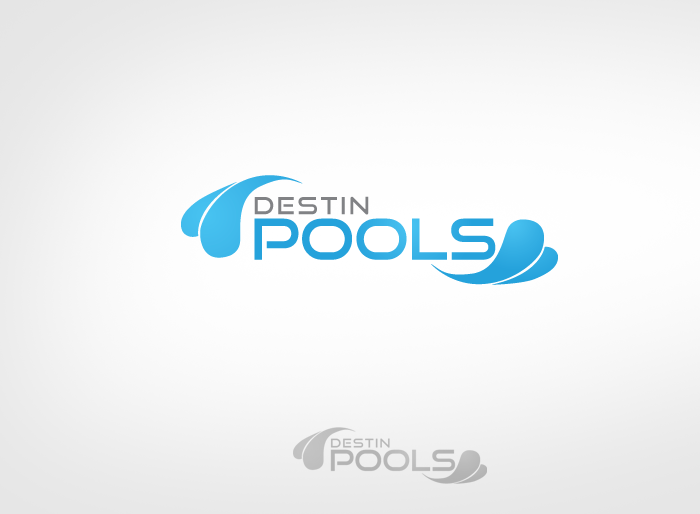 Logo Design by Jan Chua - Entry No. 52 in the Logo Design Contest Fun Logo Design for Destin Pools.