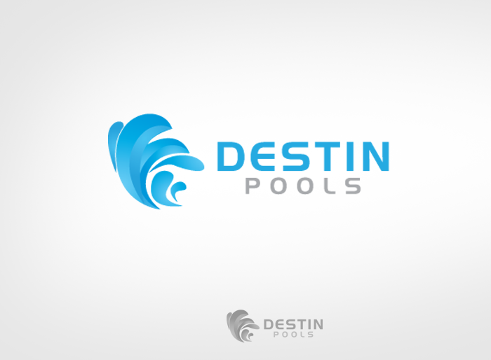 Logo Design by Jan Chua - Entry No. 53 in the Logo Design Contest Fun Logo Design for Destin Pools.
