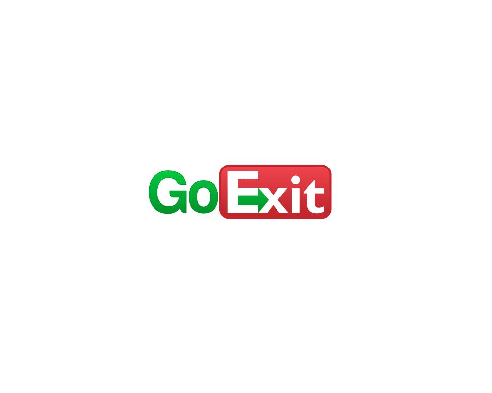 Logo Design by Juan Luna - Entry No. 39 in the Logo Design Contest GoExit Logo Design.