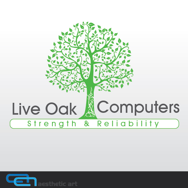 Logo Design by aesthetic-art - Entry No. 29 in the Logo Design Contest Live Oak Computers.