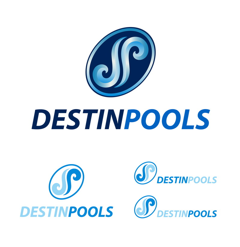 Logo Design by t-sign703 - Entry No. 55 in the Logo Design Contest Fun Logo Design for Destin Pools.