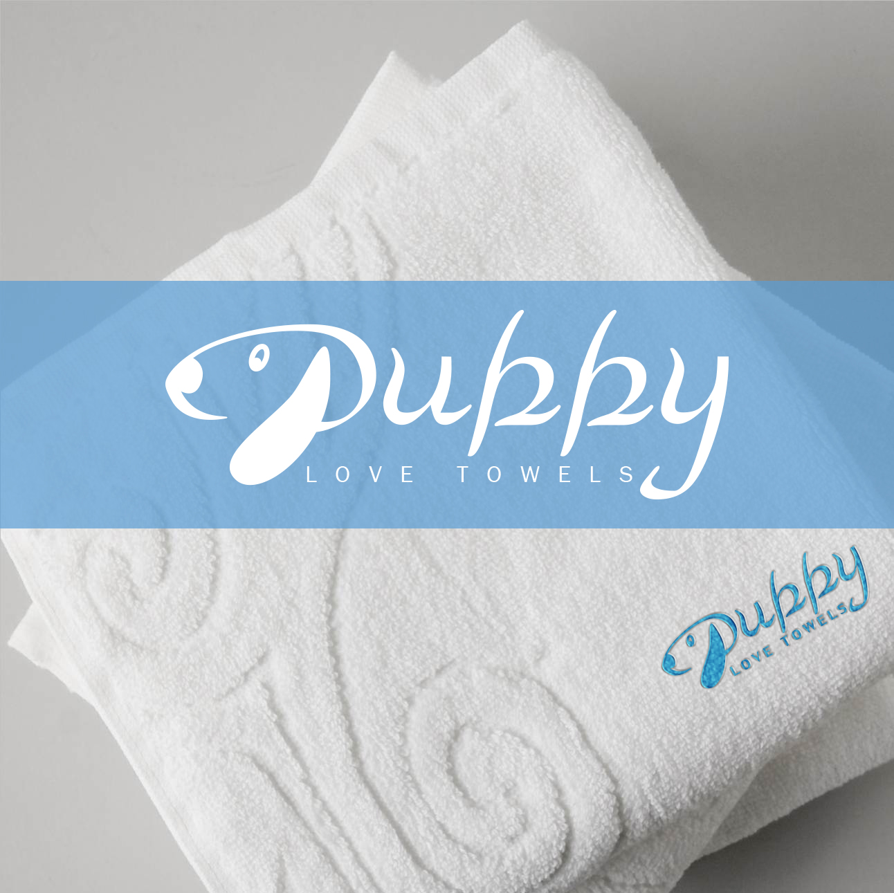 Logo Design by Yash Sindhav - Entry No. 36 in the Logo Design Contest Artistic Logo Design for Puppy Love Towels.