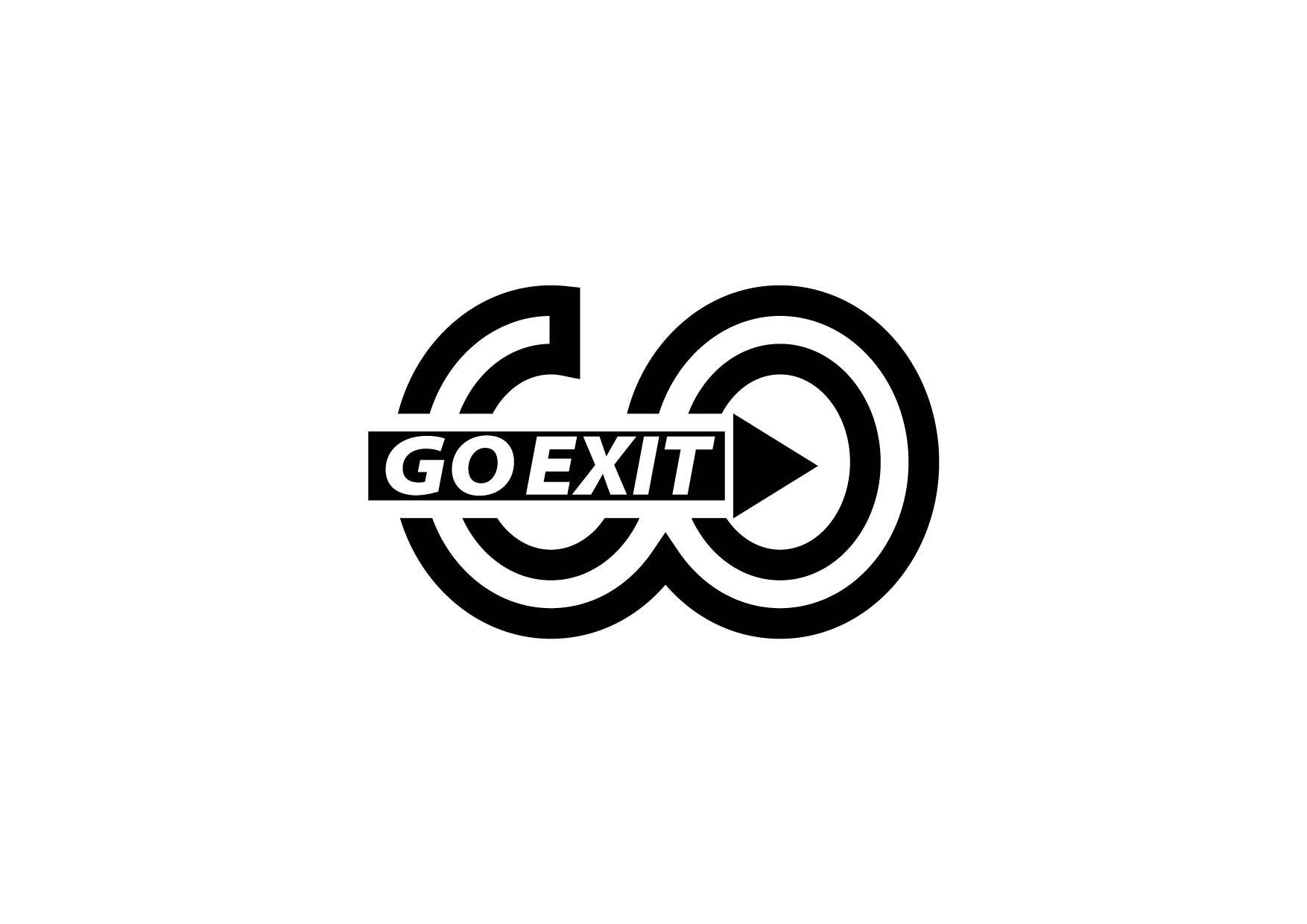 Logo Design by Yash Sindhav - Entry No. 45 in the Logo Design Contest GoExit Logo Design.