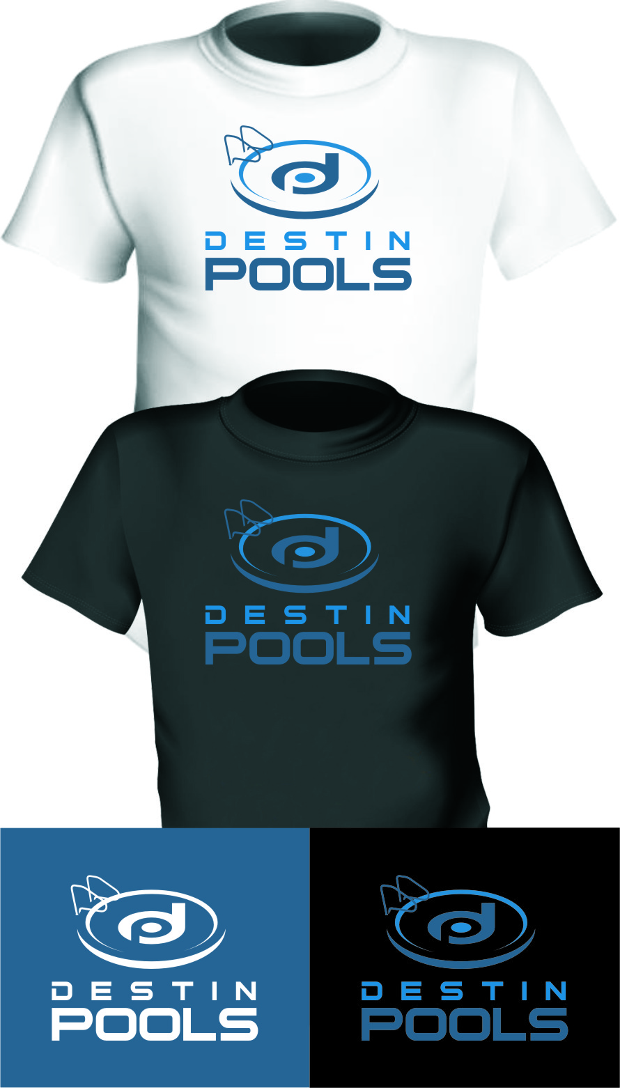 Logo Design by RasYa Muhammad Athaya - Entry No. 60 in the Logo Design Contest Fun Logo Design for Destin Pools.