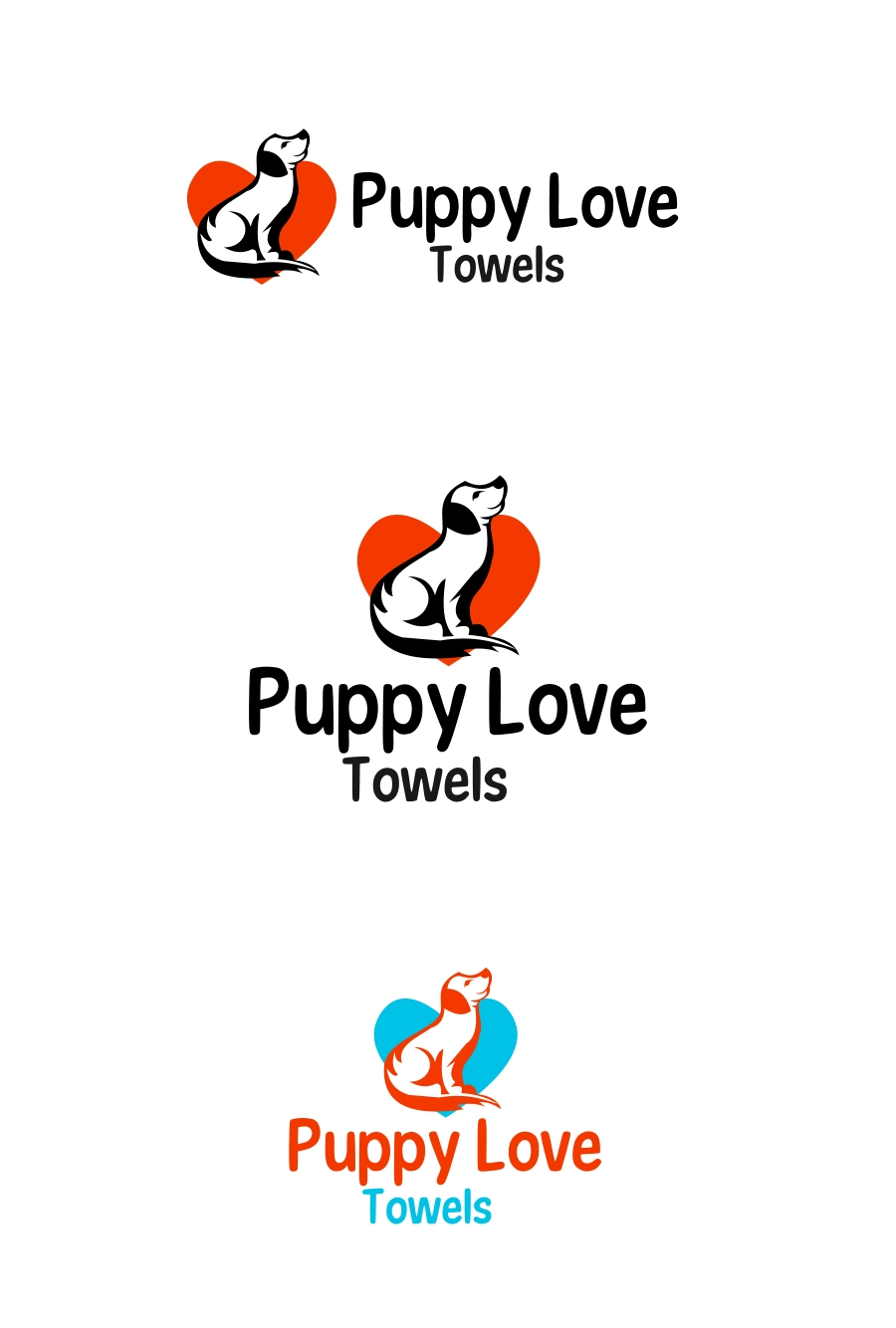 Logo Design by Private User - Entry No. 41 in the Logo Design Contest Artistic Logo Design for Puppy Love Towels.