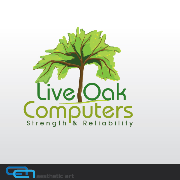 Logo Design by aesthetic-art - Entry No. 30 in the Logo Design Contest Live Oak Computers.