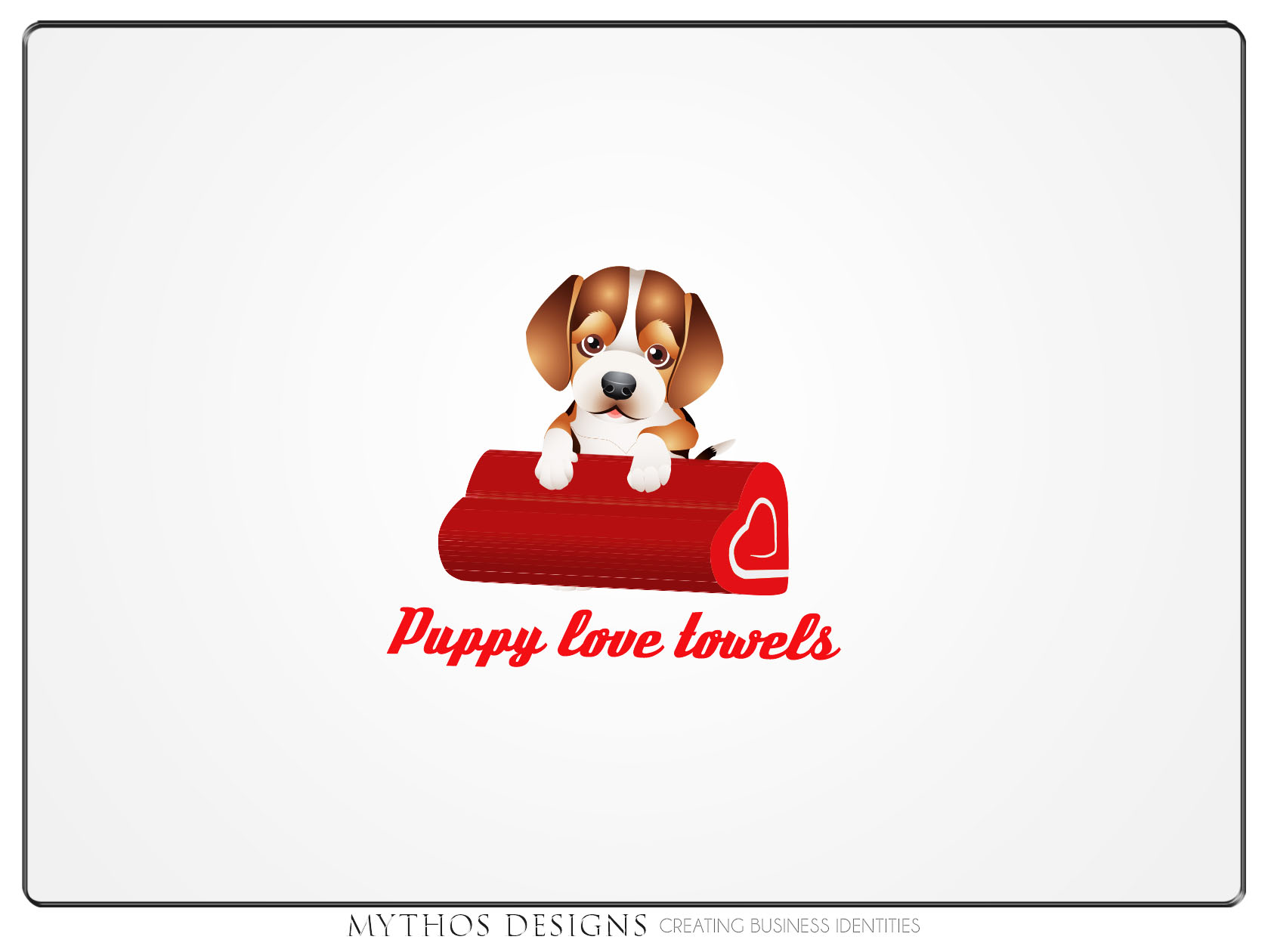 Logo Design by Mythos Designs - Entry No. 44 in the Logo Design Contest Artistic Logo Design for Puppy Love Towels.