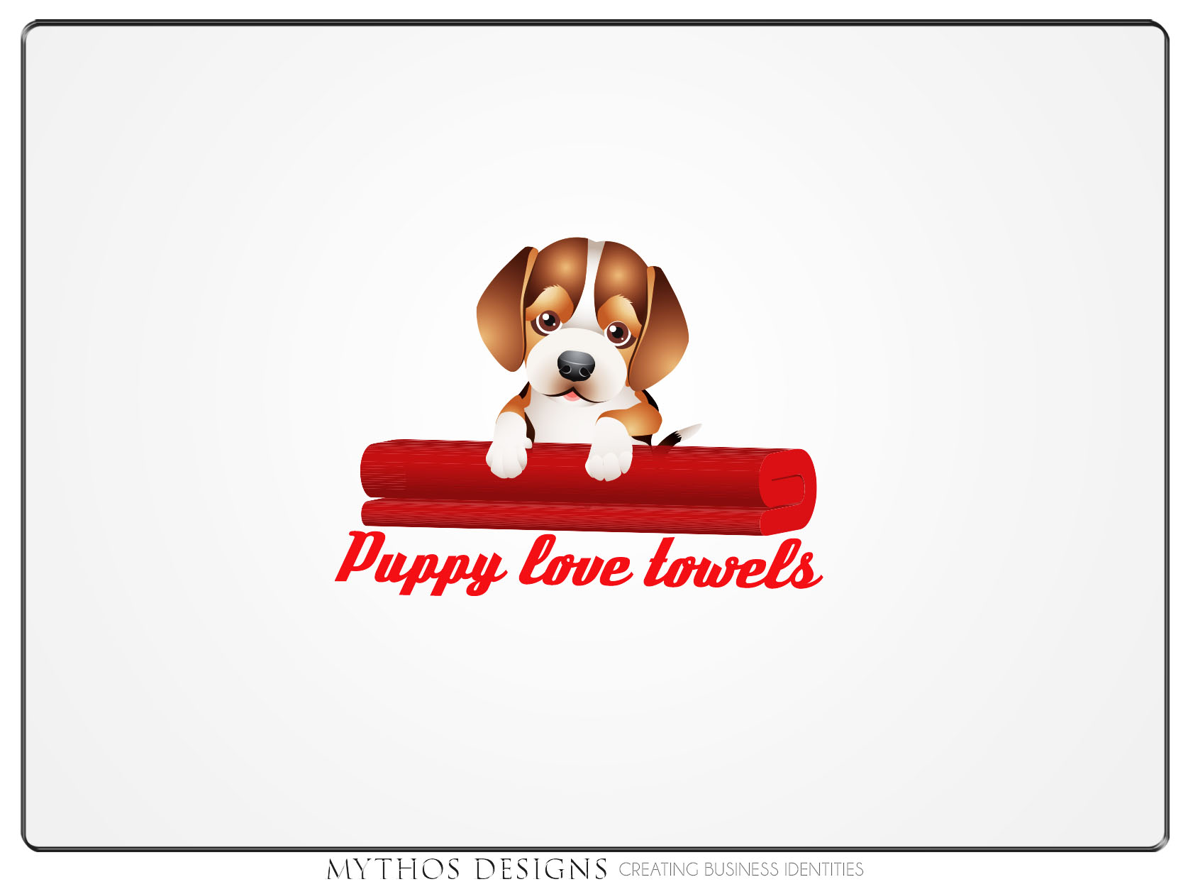 Logo Design by Mythos Designs - Entry No. 45 in the Logo Design Contest Artistic Logo Design for Puppy Love Towels.