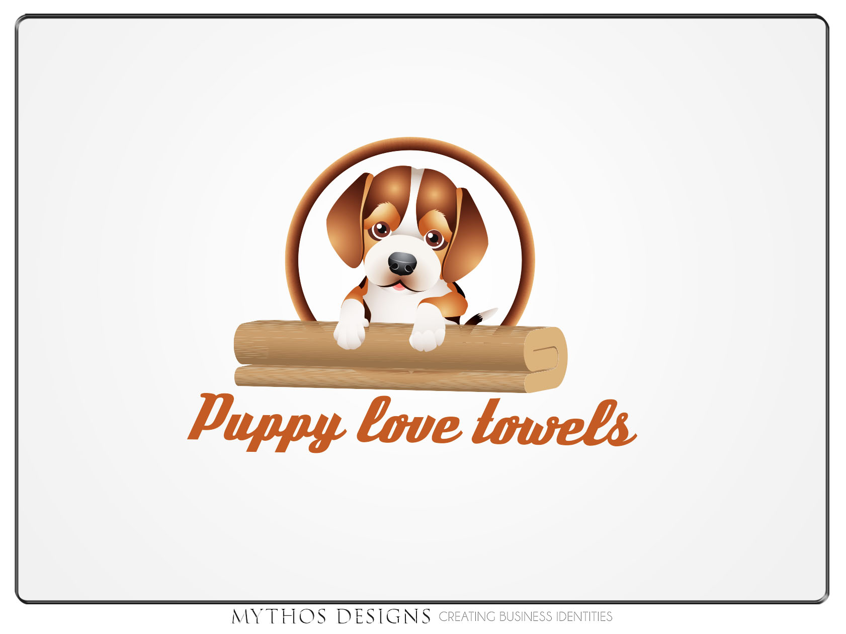 Logo Design by Mythos Designs - Entry No. 46 in the Logo Design Contest Artistic Logo Design for Puppy Love Towels.