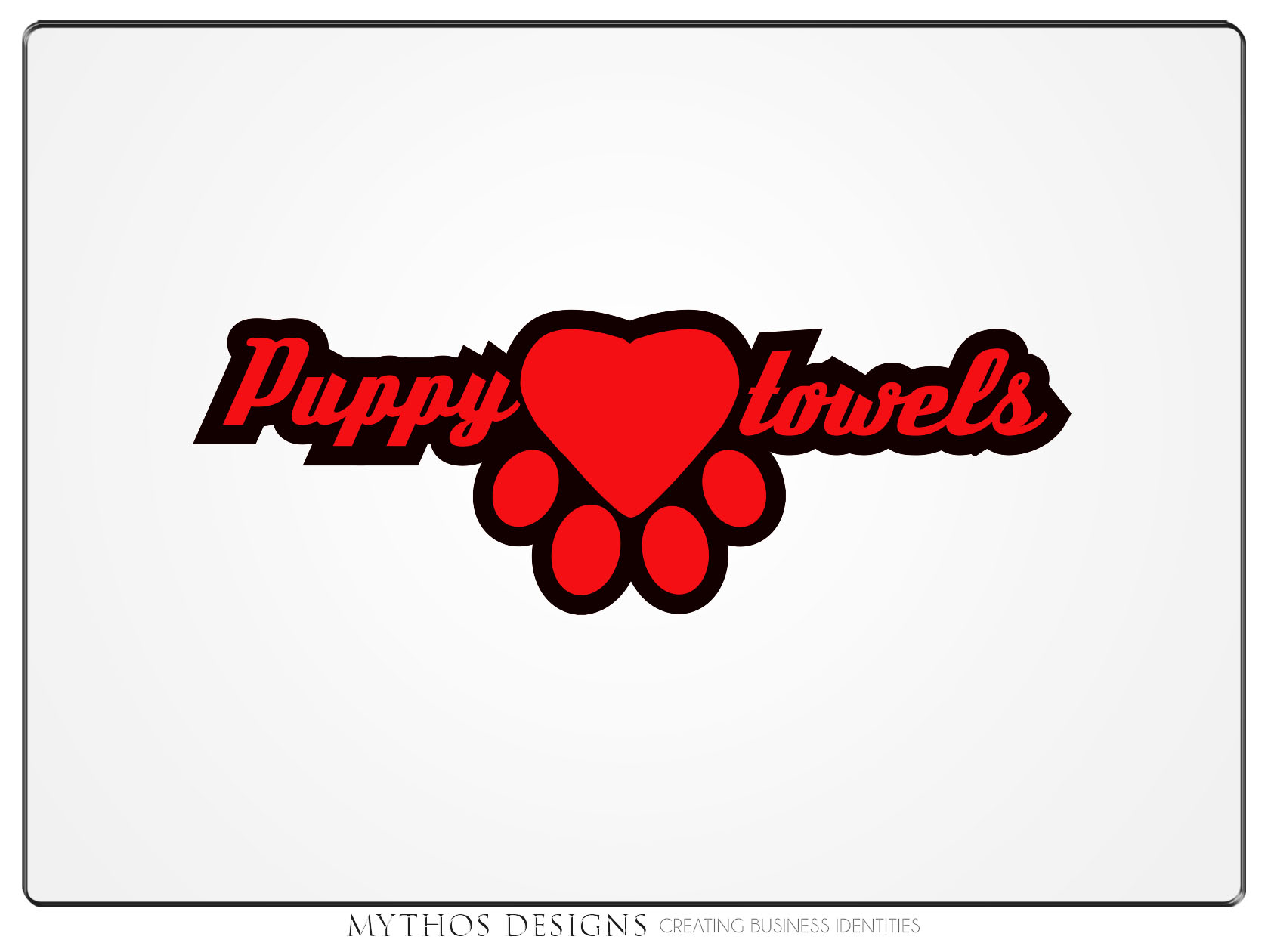 Logo Design by Mythos Designs - Entry No. 47 in the Logo Design Contest Artistic Logo Design for Puppy Love Towels.
