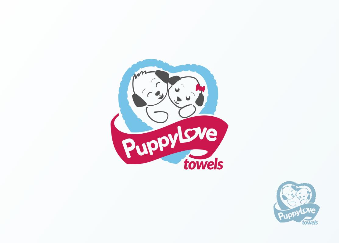 Logo Design by Jorge Sardon - Entry No. 48 in the Logo Design Contest Artistic Logo Design for Puppy Love Towels.
