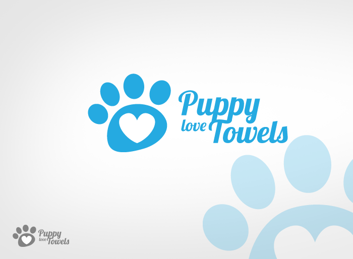 Logo Design by Jan Chua - Entry No. 51 in the Logo Design Contest Artistic Logo Design for Puppy Love Towels.