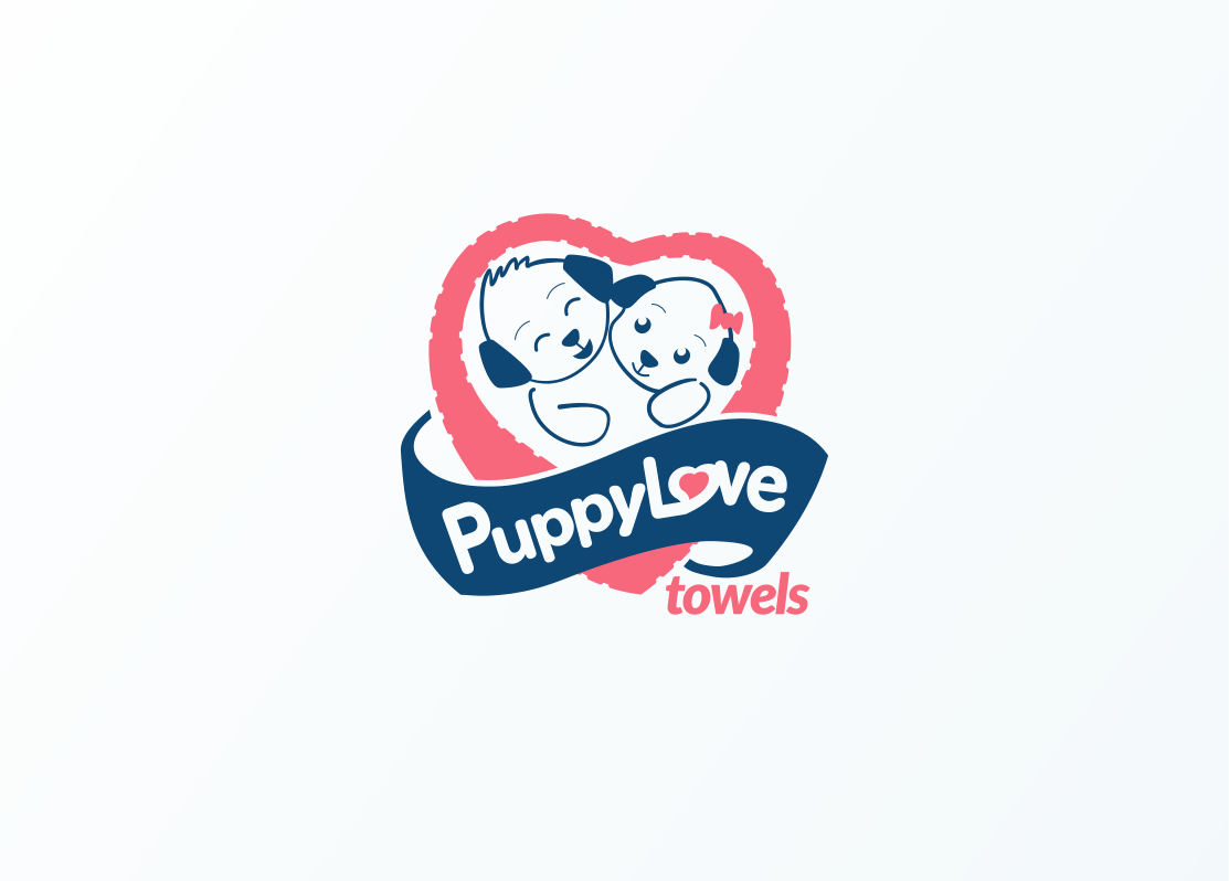 Logo Design by Jorge Sardon - Entry No. 52 in the Logo Design Contest Artistic Logo Design for Puppy Love Towels.