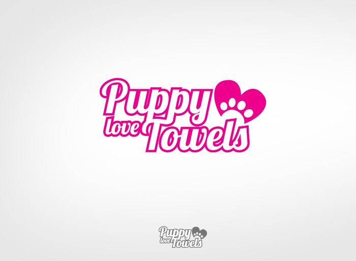 Logo Design by Jan Chua - Entry No. 57 in the Logo Design Contest Artistic Logo Design for Puppy Love Towels.