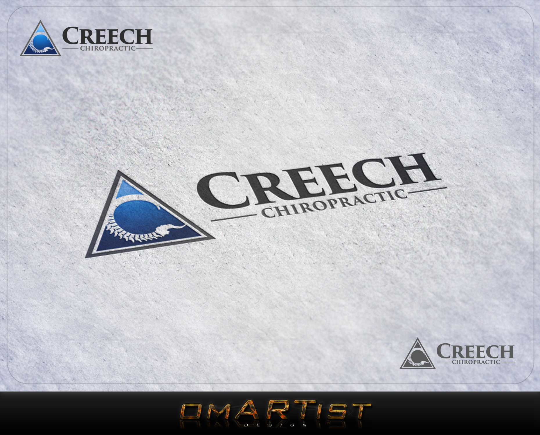 Logo Design by omARTist - Entry No. 15 in the Logo Design Contest Imaginative Logo Design for Creech Chiropractic.