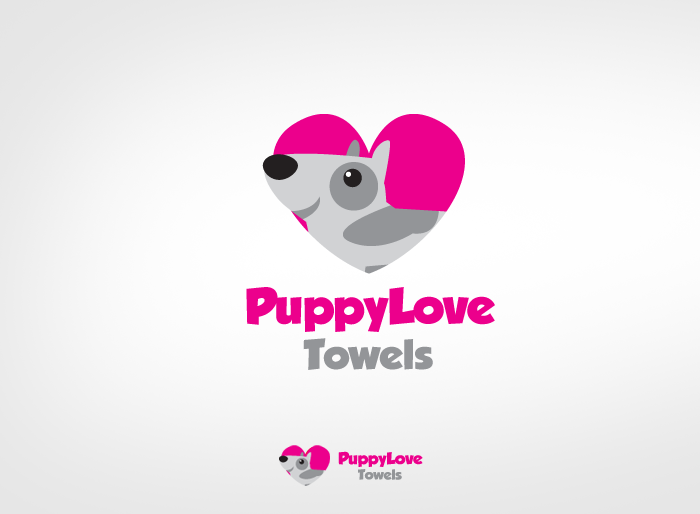 Logo Design by Jan Chua - Entry No. 60 in the Logo Design Contest Artistic Logo Design for Puppy Love Towels.