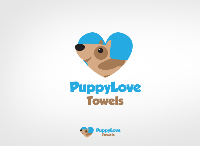Logo Design by Jan Chua - Entry No. 61 in the Logo Design Contest Artistic Logo Design for Puppy Love Towels.