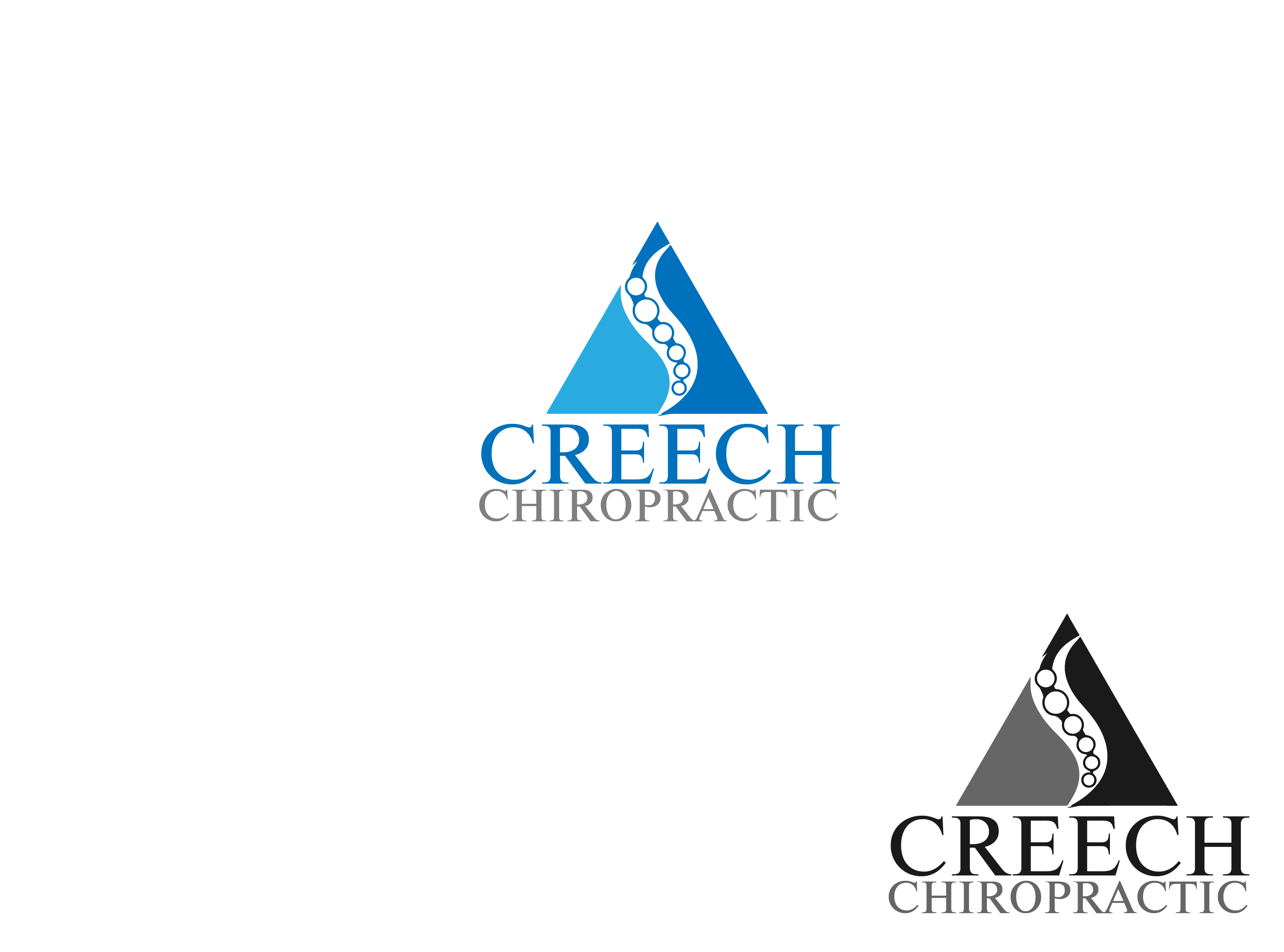 Logo Design by Private User - Entry No. 22 in the Logo Design Contest Imaginative Logo Design for Creech Chiropractic.