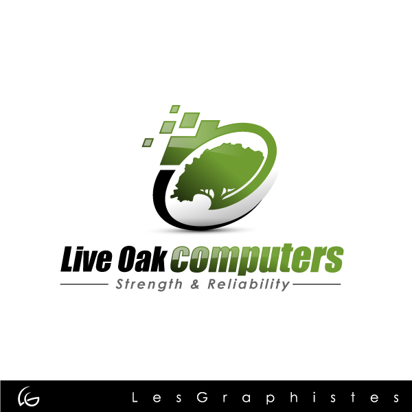 Logo Design by Les-Graphistes - Entry No. 32 in the Logo Design Contest Live Oak Computers.