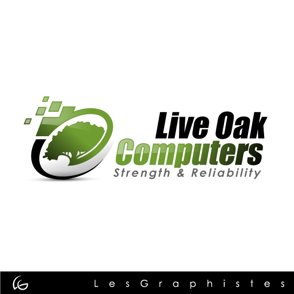 Logo Design by Les-Graphistes - Entry No. 33 in the Logo Design Contest Live Oak Computers.
