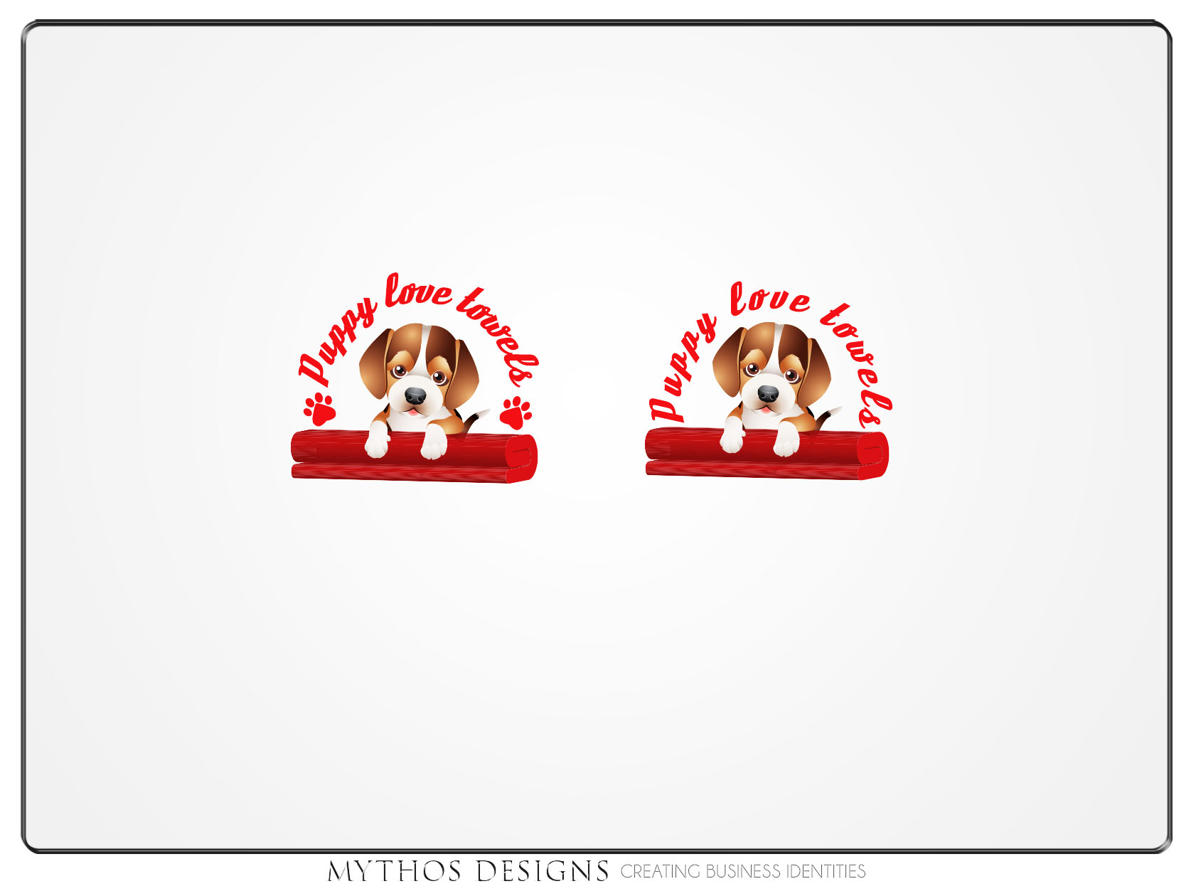 Logo Design by Mythos Designs - Entry No. 62 in the Logo Design Contest Artistic Logo Design for Puppy Love Towels.