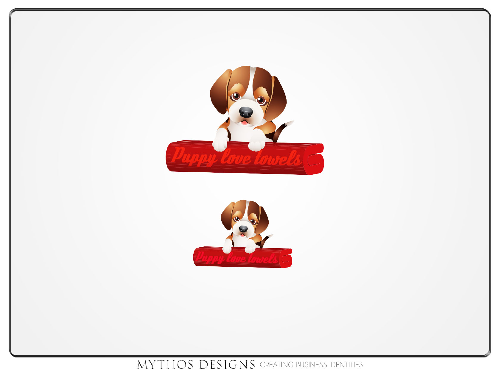 Logo Design by Mythos Designs - Entry No. 63 in the Logo Design Contest Artistic Logo Design for Puppy Love Towels.